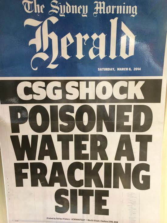 Aquifer poisoned by CSG